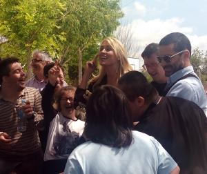 Jaume Anglada y Carolina Cerezuela durante su visita a ASNIMO